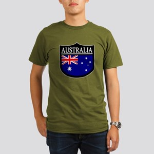 Australia Patch Organic Men's T-Shirt (dark)