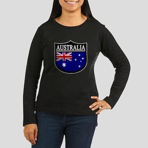 Australia Patch Women's Long Sleeve Dark T-Shirt
