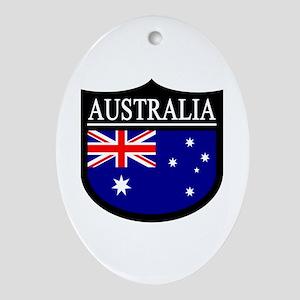 Australia Patch Ornament (Oval)