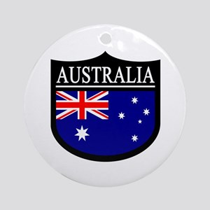 Australia Patch Ornament (Round)