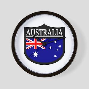 Australia Patch Wall Clock