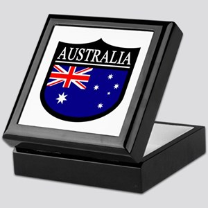 Australia Patch Keepsake Box
