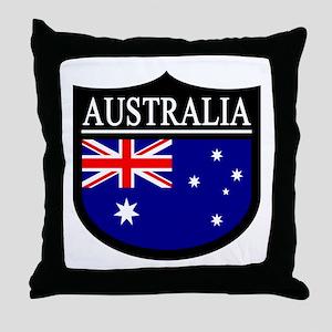 Australia Patch Throw Pillow