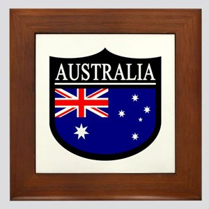 Australia Patch Framed Tile