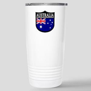 Australia Patch Stainless Steel Travel Mug