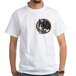 Fawn's Tri White T-Shirt, pocket area