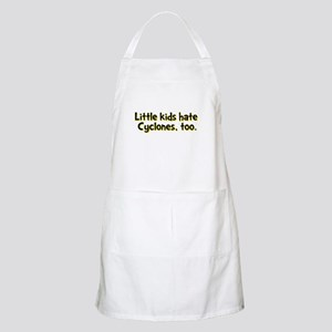 Little Kids Hate Cyclones Apron