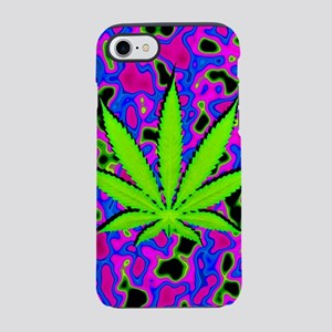 Psychedelic Pot Leaf iPhone 7 Tough Case