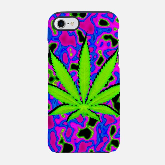 Psychedelic Pot Leaf iPhone 7 Tough Case