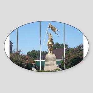 Saint Joan of Arc statue Sticker (Oval)