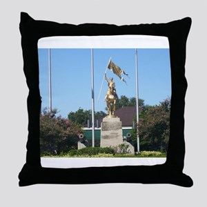 Saint Joan of Arc statue Throw Pillow