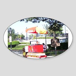 Lucky Dog Stand Sticker (Oval)