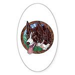 Fawn's Redheaded Window Oval Sticker