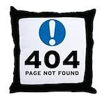 404 Error Throw Pillow