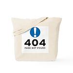 404 Error Tote Bag