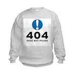 404 Error Kids Sweatshirt