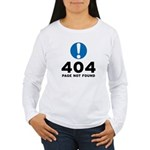 404 Error Women's Long Sleeve T-Shirt