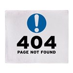 404 Error Throw Blanket