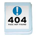 404 Error baby blanket