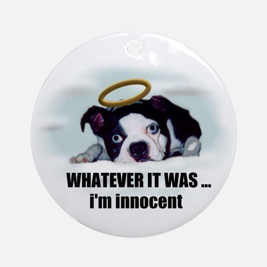 WHATEVER IT WAS IM INNOCENT  Ornament (Round)