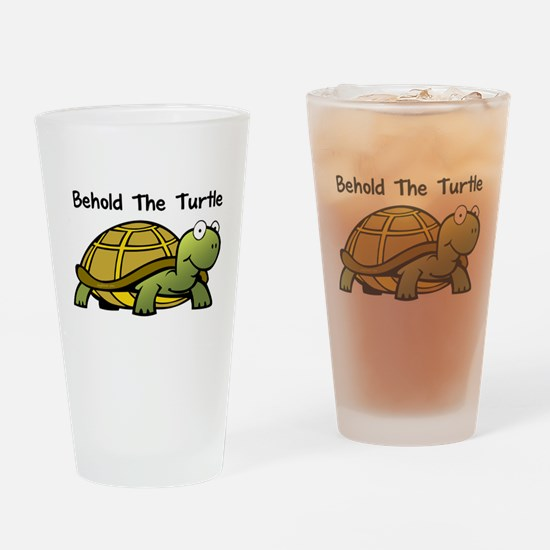 Behold The Turtle Pint Glass