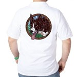 Fawn's Redheaded Golf Shirt (back)