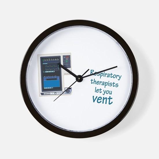 Unique Respiratory therapist Wall Clock