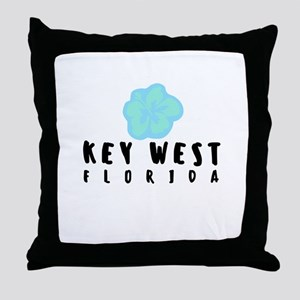 KEY WEST blue Throw Pillow