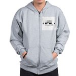 I Know HTML - How to Meet Lad Zip Hoodie