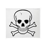 Skull & Cross Bones Throw Blanket