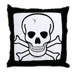 Skull & Cross Bones Throw Pillow