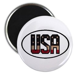 USA OVAL STICKERS & MORE! 2.25