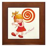 Sweet Girl Framed Tile