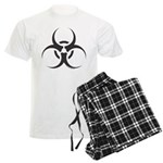 Biohazard Symbol (Basic) Men's Light Pajamas