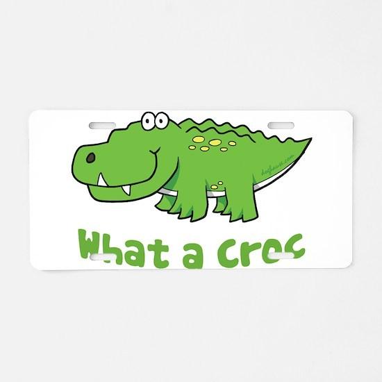What a Croc Aluminum License Plate