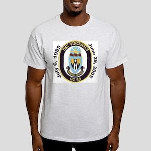 USS Vincennes CG 49 Decomm Ash Grey T-Shirt
