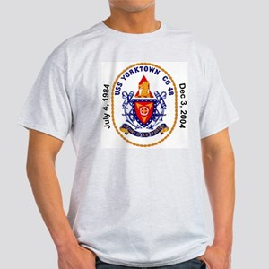 USS Yorktown CG-48 Decomm Ash Grey T-Shirt