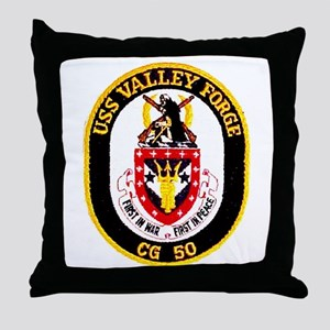 USS Valley Forge CG 50 Throw Pillow