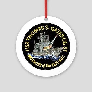 USS Thomas S. Gates CG 51 Ornament (Round)