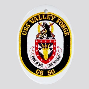 USS Valley Forge CG 50 Oval Ornament