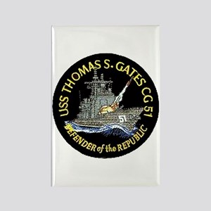 USS Thomas S. Gates CG 51 Rectangle Magnet