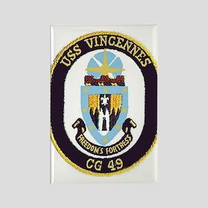 USS Vincennes CG 49 Rectangle Magnet