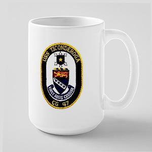 USS Ticonderoga CG 47 Large Mug