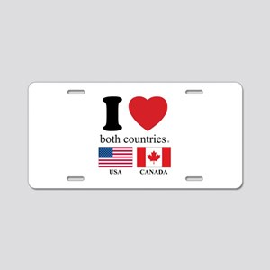 USA-CANADA Aluminum License Plate