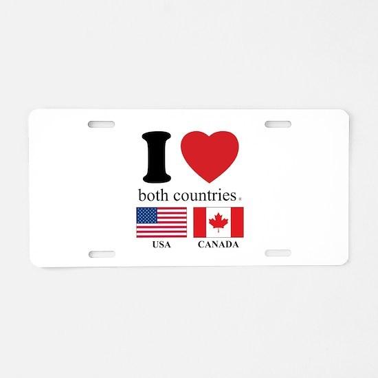 USA-CANADA Aluminum License Plate