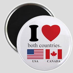 USA-CANADA Magnet