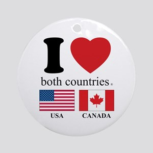 USA-CANADA Ornament (Round)