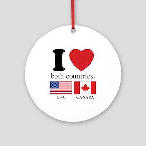 USA-CANADA Ornament (Round)