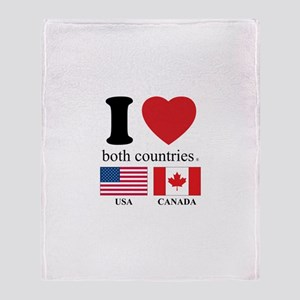 USA-CANADA Throw Blanket