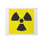 Radiation Warning Throw Blanket